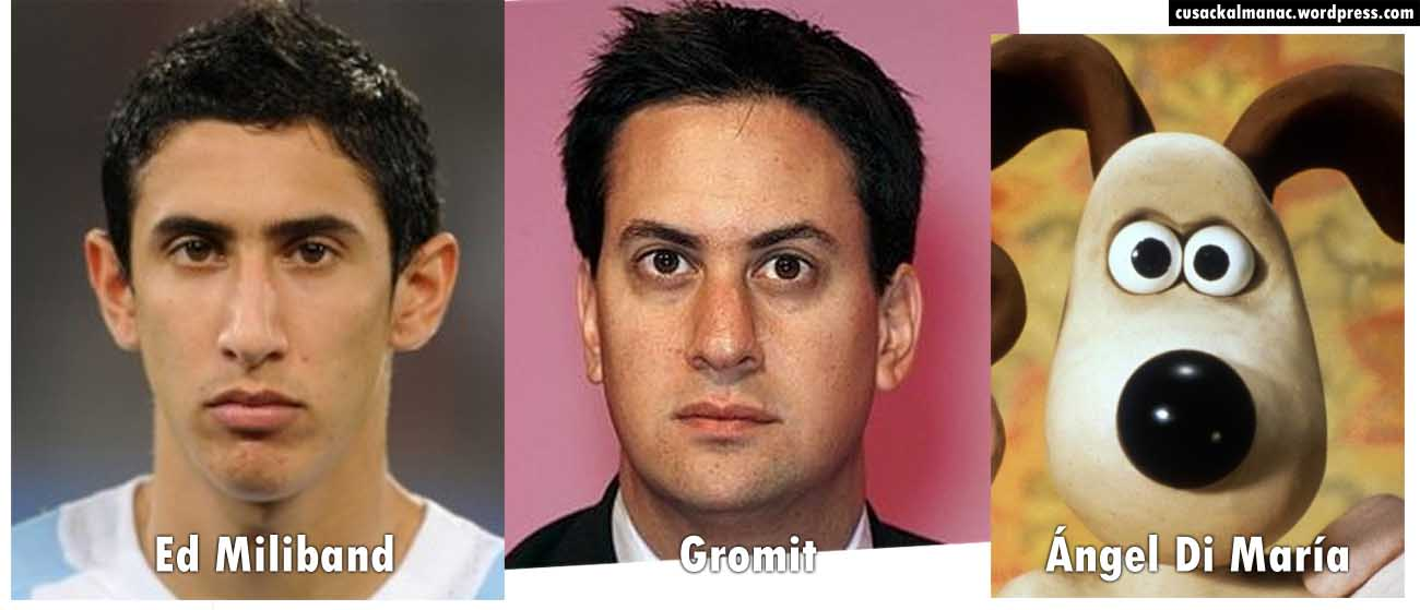 Separated at Birth: Miliband, Gromit, and Di Maria